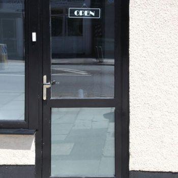 Shop door glass replaced Newport