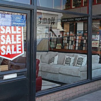 Shop Window Replaced At Home Style Furnishings In Newport