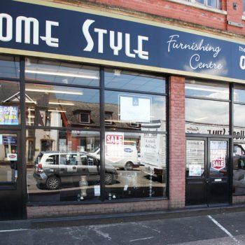 shop front glass Newport
