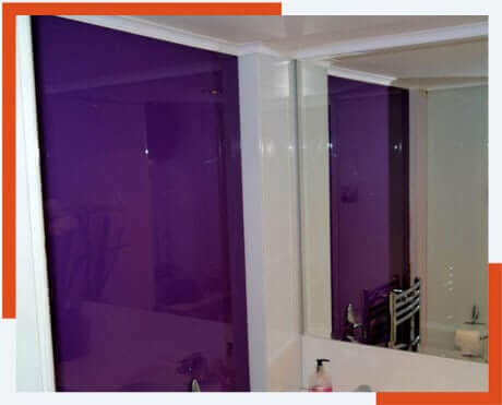 coloured glass doors made to measure South Wales
