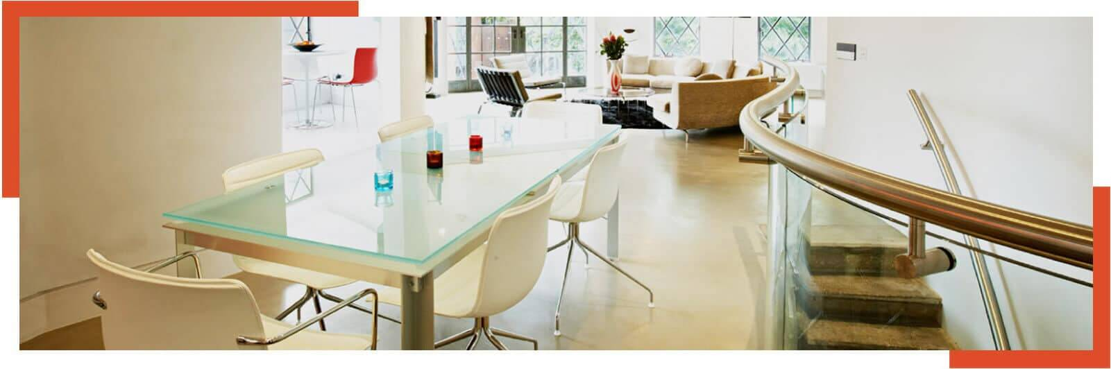 Toughened Safety Glass Table Cardiff